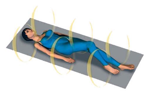 Heimanwendung für Wellness mit Magnetfeldmatte